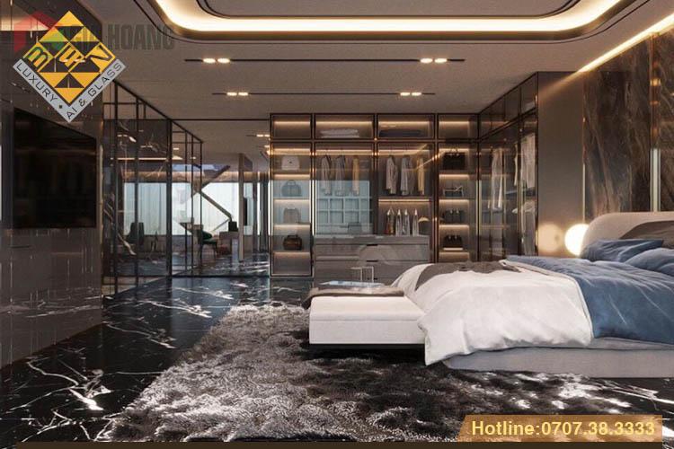 Cánh kính khung nhôm trong thiết kế nội thất